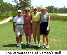 The camaraderie of women's golf