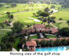 Morning View in the Golf Shop